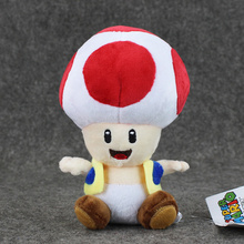 17cm Super Mario Bros Toad Plush Stuffed Dolls Plush Toys 16CM Plush Toys Figures Toy for Kids(China)