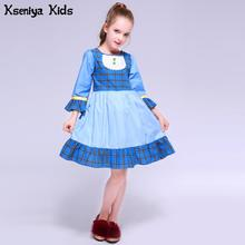 Kseniya Kids Lolita Girl Children Victorian Party Dress Christmas Dresses Girls Carnival Evening Puff Sleeve Cosplay Costumes(China)
