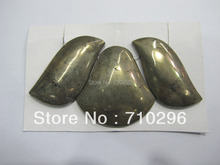 Natural gem stone Pyrite gem stone pendants sets jewelry necklace diy 5sets/lot(China)