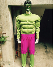 free shipping 2016 wholesale New Hulk With Muscle Green Giant Costume Hood Holloween Cosplay Costume & Online Get Cheap Giant Costumes -Aliexpress.com | Alibaba Group