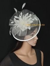 New Arrival. Cream Crin Fascinator Feather Fascinator.
