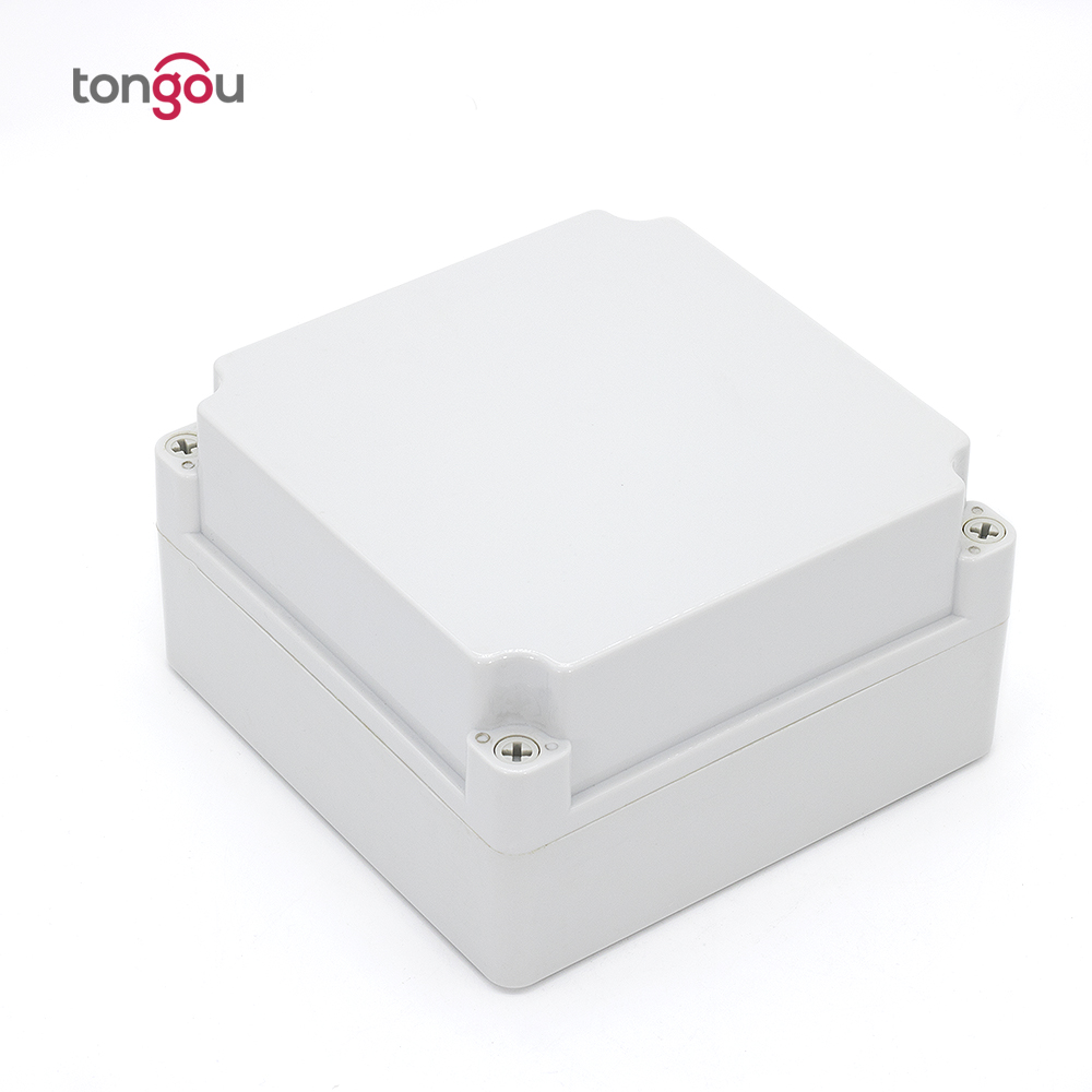 IP67 175*175*100 mm waterproof junction box Free customized trepanning 3 holes plastic control panel box <br>