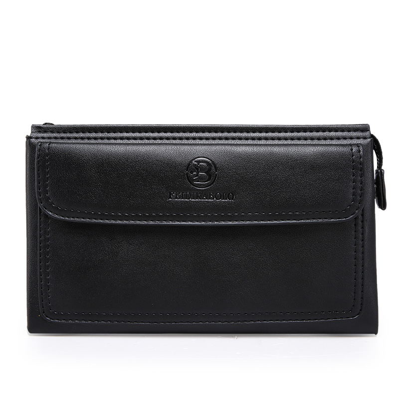 High Quality 2017 Business Hand Bag Men Clutch Bags Long Cattle Split Leather Wallet Luxury Brand Male Wallets With Wristlet<br><br>Aliexpress
