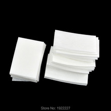 56Pcs Nail Art Wipes UV Gel Nail Polish Remover Cleaner Wipe Cotton Lint White Color(China)