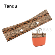 TANQU New Faux Solid Snakeskin Grain PU Leather Trim Decoration for Obag O Bag Serpentine Trims for  Spring season