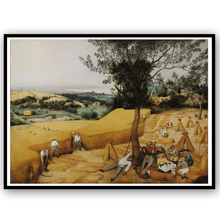 Canvas Art Print The Harvesters by Pieter Bruegel the Elder World Famous Painting Canvas Print Art Picture For Home Decor
