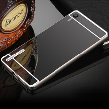 Lenovo Vibe Shot Case Luxury Hybrid Aluminum Metal Bumper Frame Mirror Plating Hard Cover For Lenovo Z90 Case Bumper Funda Coque