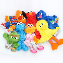 1Pcs/set Kawaii Sesame Street Hand Puppet Plush Toys Elmo Cookie Monster Ernie Big Bird Grover Stuffed Dolls Kids Best Gift(China)