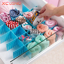 4pcs/lot Creative DIY Drawer Divider Household Storage Organizer Adjustable Drawer Partition Board Organizer for Socks Underwear
