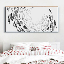 Modern Simple Life Zen Abstract Fish Long Banner Print A4 Art Print Poster Image Canvas Mural No Frame Home Decoration AN035