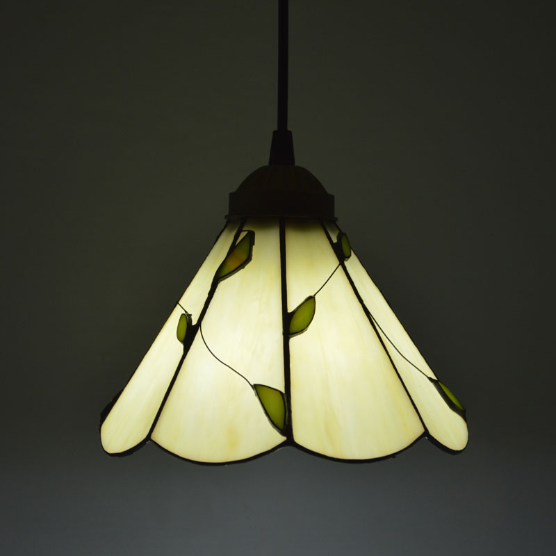 Tiffany Pendant Light American Country Style Leaves Pattern Cafe Restaurant E27 110-240V<br>