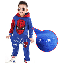 Hots Baby Fleece Boys Sets Cotton Sport Clothing Suit,Kids Fashion spider-man Cartoon Clothes Suit,Children Summer Clothing Suit