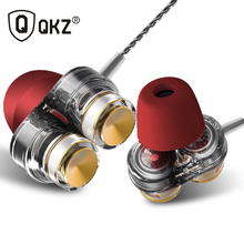 Genuine QKZ KD7 Earphones Dual Driver With Mic gaming headset mp3 DJ Field Headset audifonos fone de ouvido sem fio auriculares(China)