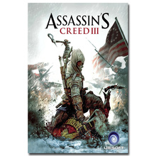 NICOLESHENTING Assassins Creed 3 4 Black Flag Art Silk Fabric Poster Huge 13x20 32x48 inches Game Pictures for Room Decor 016