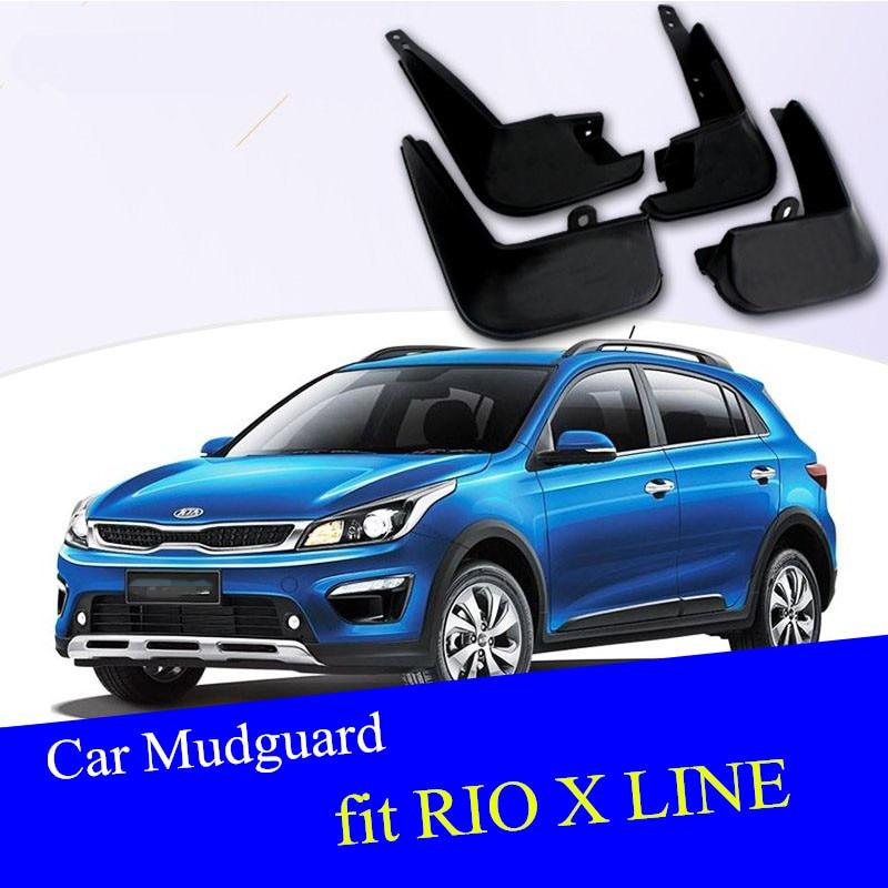 New 4x Car Mud Flap Splash Guard Fender Mudguard For KIA Rio K2 Sedan 2011-2019