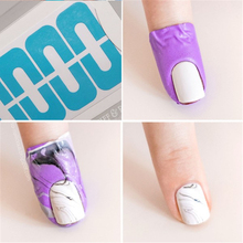 10 Pcs Creative U-shape Spill-proof Nail Polish Stickers Tool Manicure Nail Sticker Finger Cover Tool