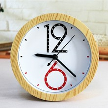 New creative fashion Fashion simple digital rivet inlaid wood alarm clock retro garden modern clocks table clocks alarm clock