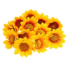 Hoomall Silk Flower Mini Daisy Artificial Flower Bouquet Wedding Party Decoration Home Decor Scrapbooking 100Pcs/lot