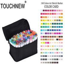 TOUCHNEW 168 Colors Copic Sketch Markers Design Artist Dual Head Manga Markers Set For Alcohol Based Marker Painting Artist