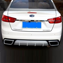 automobile car covers accessories chromium styling surrounded Freese modified rear spoiler bumper decoration FOR Ford Escort(China)