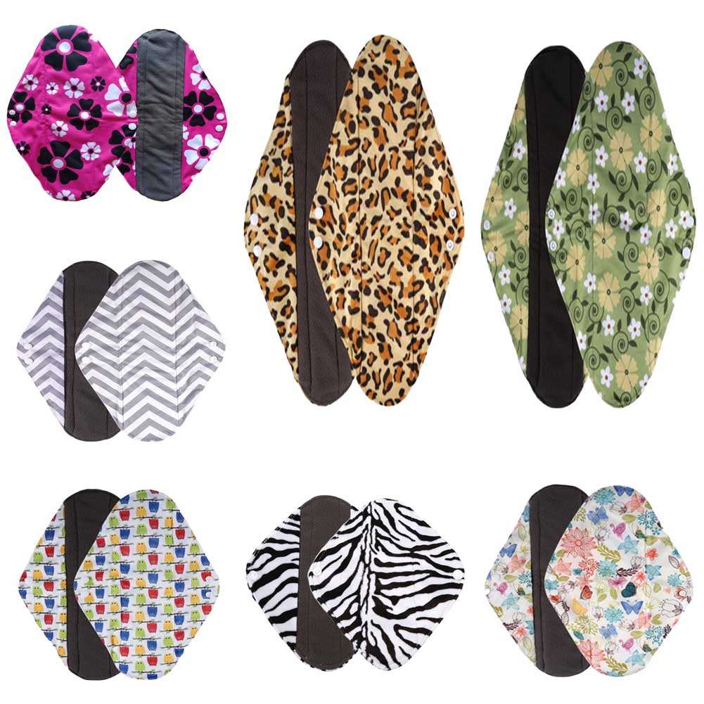 1pc New Arrival Women's Reusable Bamboo Cloth Washable Menstrual Pad Mama Sanitary Towel Pad Pretty Feminine Hygiene Product 1