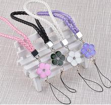 Lanyard for phones hand strap for mobile phone chain pendant charm flower gift women luxury crystal