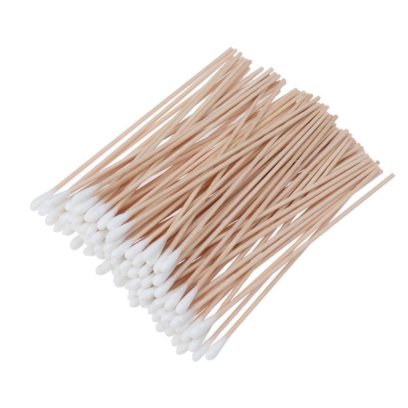 50 bastoncillos de algod/ón con cabeza grande de aprox 15 cm de largo