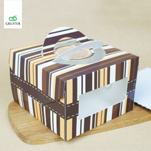 16*16*10.5CM Thicken Card Neto Free DIY Wedding Gift Favor Boxes,Party Candy Box,Packaging Cheese Cake Box Container 4 Inch
