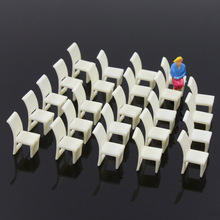 48pcs Model Train Railway Leisure Chair Settee Bench Layout 1:50 O 1:75 OO 1:100 TT Scale ZY10 model building kit