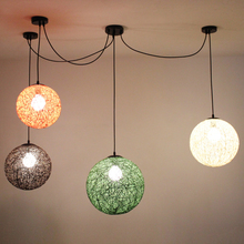 Ma ball modern minimalist personality color rattan ball pendant lamp decorated living bedroom hallway pendant light zzp