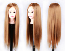 "24""Hair Mannequin Head Hair Fake Hairdressing Doll Heads Training Manikin with Synthetic Hair Manik Cosmetology Educational sale"