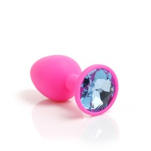 Buy new silicone butt plug suppository gem stimulation butt plug Anal Sex Toys Butt Plug anal plug Sex Toys Products Adults