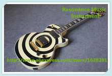 Hot Selling Chinese Zakk Wylde Vertigo Bullseye Finish LP Electric Guitars & Left Handed Custom Available