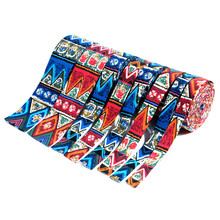 ZERZEEMOOY NEW 16MM 22MM 25MM 38MM 50MM 5Yard/lots Blue Ethnic Style Fabric Folding Ribbon Cotton Linen Ribbon Dog Collars Lace