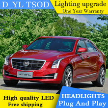 Car Styling Headlights for Cadillac ATS 2014-2016 LED Headlight for ATS Head Lamp LED Daytime Running Light LED DRL Bi-Xenon HID(China)
