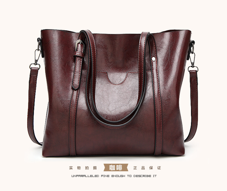 2017 New PU Leather Women Casual Large Totes Simple Shoulder Bag Hot Sale Female Pouch Ladies Handbags Large Capacity Hand Bags