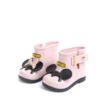 2017 Mini Children Boots girls rain Boots baby Jelly Boots adorable girls fashion boots non slip water shoes Sapato