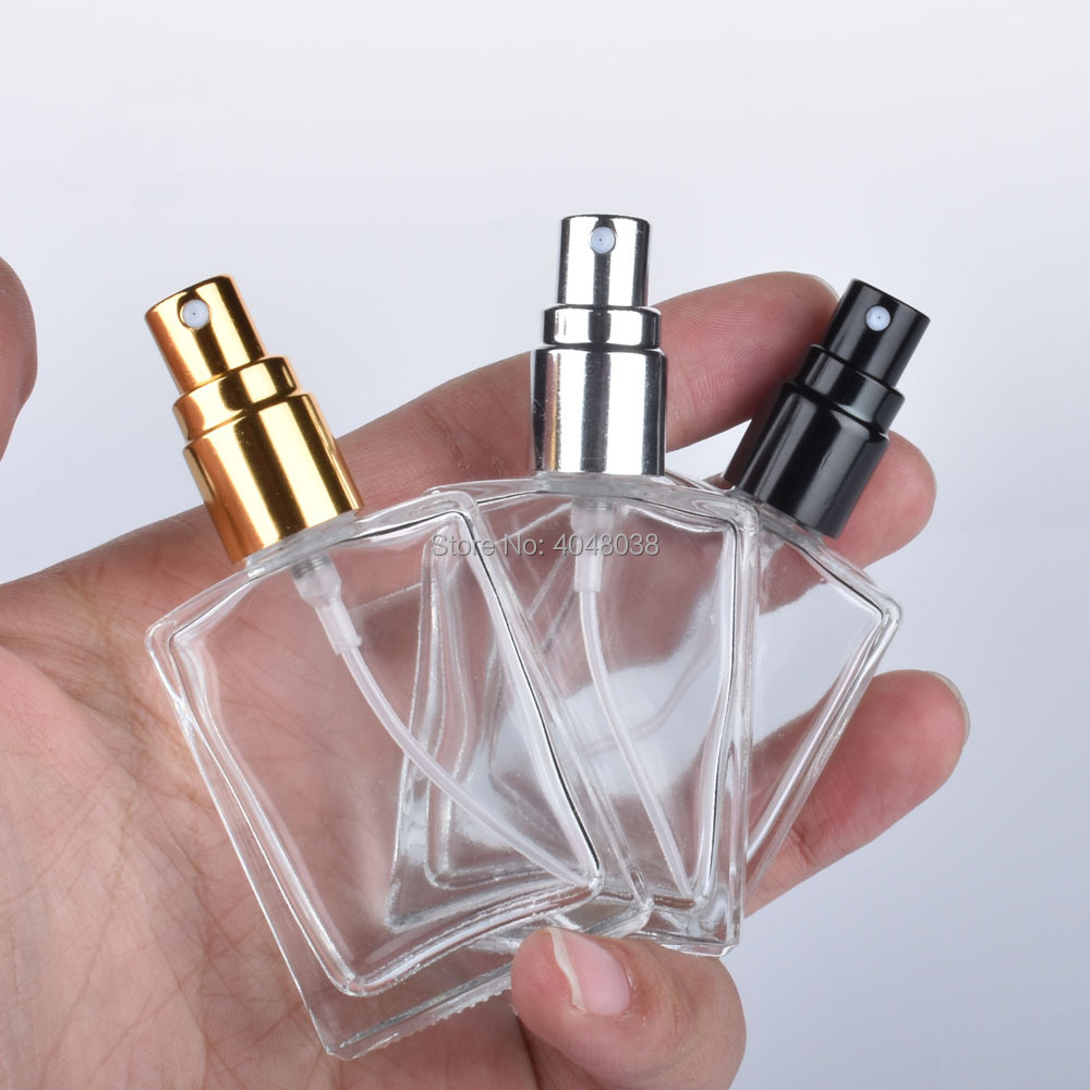 15 ML Cosmetic Compact Empty Perfume Bottle Transparent Pressed Spray Container Frosted Little Square Glass Filling Bottles