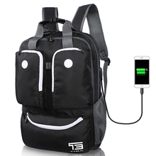 Men Laptop Backpack External USB Charge Computer Backpacks Male Stylish Bagpack Women Waterproof Travel Bags Designer Back Pack(China)