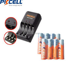 8Pcs PKCELL  NIZN AA 2500mWh 1.6v Rechargeable Battery Packed with 1Pc EU/US Plug Ni-Zn Charger 8186 Charging  2 to 4pcs AA/AA