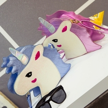 2017 Real Top Unisex Solid Bag Zipper Flap The Harajuku Girls Heart Sister Unicorn Skinnydip Mobile Phone Wallet Chain Shoulder(China)