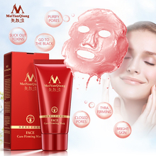 Deep Cleansing purifying peel off Black mud Facial face mask Remove blackhead facial mask strawberry nose Acne remover Face care(China)