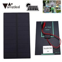 Amzdeal High Quality 1W DC 5V Solar Cell DIY Monocrystalline Silicon 10.7x6.1x0.2cm Solar Battery Power Panel Charger Module(China)