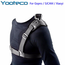 Yooteco Accessories Adjustable Universal Single Shoulder Strap Grip Mount Chest Harness Belt Travel For Gopro Hero 5 GitUP Git2