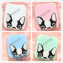 LIUSVENTINA DIY acrylic  cute dog contact lens case for eyes contact lenses box for glasses