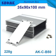 4 pieces heat sink cooling aluminium extrusion housing case for pcb design and gps tracking housing 35*90*100mm