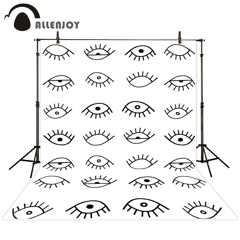 Allenjoy photographic background Eye black and white line drawing backdrops newborn christmas photo photocall 10ft*20ft<br><br>Aliexpress