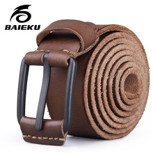 Buy BAIEKU full grain leather Retro men's genuine leather belt Stylish casual men's leather belt for $16.52 in AliExpress store