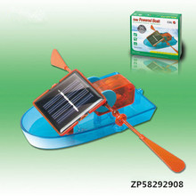 Free Shipping educational Puzzle DIY creative solar powered boat rowing toy DIY children toy(China)
