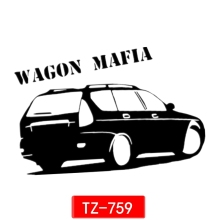 AIAIA Three Ratels TZ-759 12*18.4cm 1-5 pieces reflective car sticker wagon mafia auto sticker car stickers removable(China)